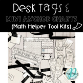 Rae Dunn Inspired Desk Tags with Mini Anchor Charts