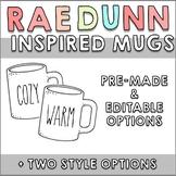 Rae Dunn Inspired Mugs | Editable