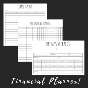 Rae Dunn Inspired Financial Planner 8.5x11