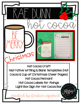 Rae Dunn Inspired Hot Cocoa Craft and Writing