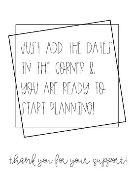Rae Dunn Inspired Lesson Plan Templates