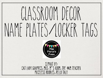 Rae Dunn Inspired Nameplates & Locker Tags
