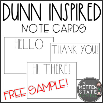 Rae Dunn Inspired Note Cards FREE