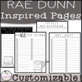 Rae Dunn Inspired Notes & Checklist Pages