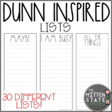 Rae Dunn Inspired Stationary: Lists