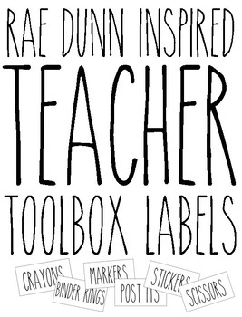 Rae Dunn Inspired Teacher Toolbox Labels