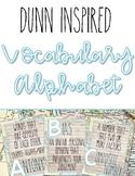 Rae Dunn Inspired Travel Theme Vocabulary Alphabet