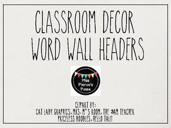 Rae Dunn Inspired Word Wall Headers