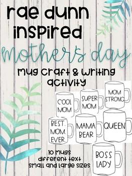 Rae Dunn Mother's Day Mug Craft and Writing Activity