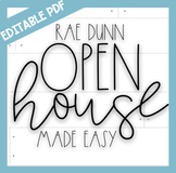 Editable Rae Dunn Open House Made Easy