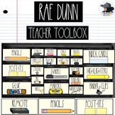 Rae Dunn Teacher Toolbox Labels (Editable)