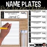Rae Dunn style editable name plates