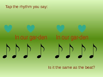 "Raffi's ""In My Garden""  Introducing ""Ti"" for Kindergarten and First Grade"
