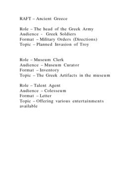 RAFT Activities for Greece