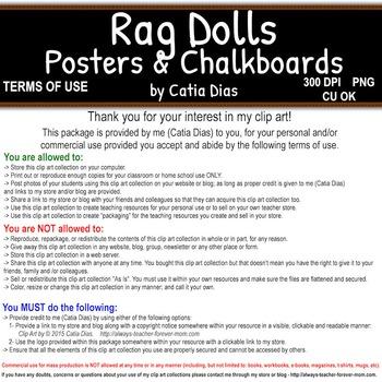 Rag Dolls Posters & Chalkboards Clip Art
