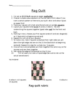 Rag Quilt sewing project