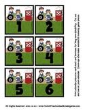 Ragedy Farm Calendar Cover-Ups Memory Game pieces - Doll Themed - Preschool