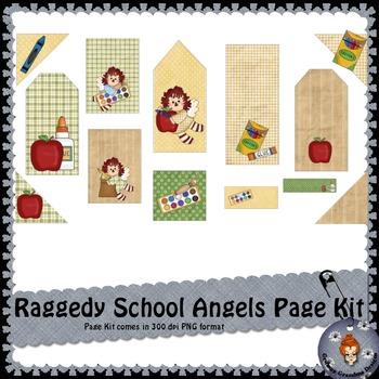 Ragedy School Angels Page Kit
