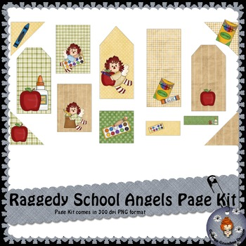Ragedy School Angels Page Kit