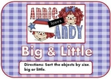 Raggedy Ann & Andy Big & Little Mini File Folder Game