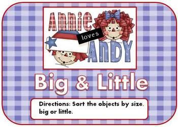 Raggedy Ann & Andy Big & Little Mini File Folder Game