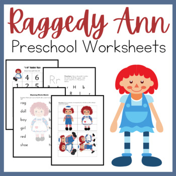 Raggedy Ann PreK-K Learning Pack