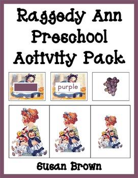 Raggedy Ann Preschool Activity Pack