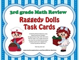 Raggedy Dolls Math Review Task Cards for 3rd grade