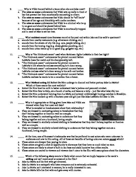 Raging Bull Film (1980) 15-Question Multiple Choice Quiz