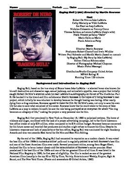 Raging Bull Film (1980) Study Guide Movie Packet