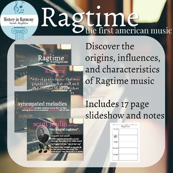 Ragtime - American Music History - Powerpoint and Notes