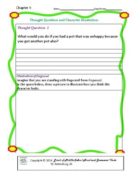 Ragweed Literature and Grammar Unit