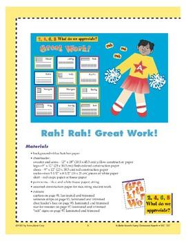 Rah! Rah! Great Work! (Bulletin Board)