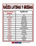 Raices latinas y griegas/prefijos/sufijos rojo