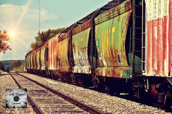 Rail Cars Stock Photo