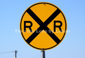 RailRoad Crossing Sign Stock Photo #48