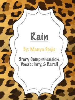 Rain - 5 Senses Theme - Story Comprehension, Vocabulary, & Retell