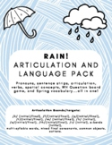 Rain! Articulation and Language Pack - speech therapy