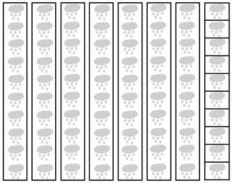 Rain Base Ten Place Value Activity. Kindergarten-2nd Grade Math.