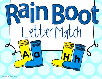 Spring Letter Match - Weather Rain Boots