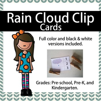 Rain Cloud Clip Cards