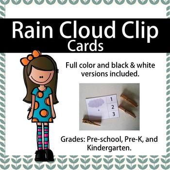 Rain Cloud Clip Cards
