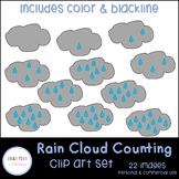 Rain Cloud Counting Clip Art