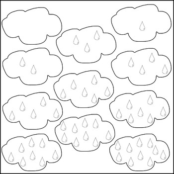 Rain Cloud Counting Clip Art