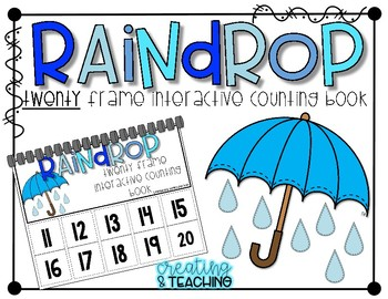 Rain Drop 20 Frame Counting Interactive Book