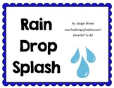 Rain Drop Splash water source literature pack