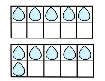 Rain Drop Ten Frames and More