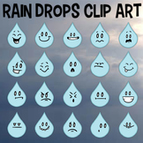 Rain Drops Clip Art, Four Seasons, Rain Emojis, Facial Expressions