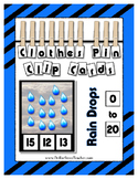 Rain Drops Counting to 20 Clip Cards Math Center with Clot