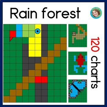 Rainforest 120 Chart Mystery Pictures